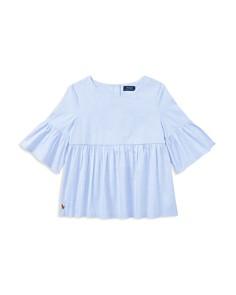 Polo Ralph Lauren Girls' Ruffled Bell-Sleeve Blouse - Little Kid, Big Kid - Bloomingdale's_0