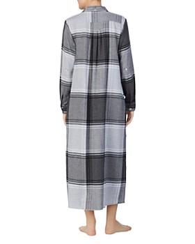 Donna Karan - Plaid Long Sleepshirt