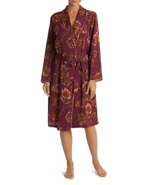MIDNIGHT BAKERY Austin Floral Robe in Plum
