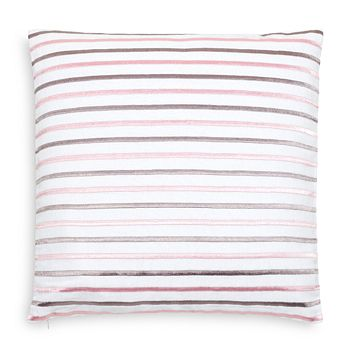 "kate spade new york - Embroidered Stripe Decorative Pillow, 18"" x 18"""