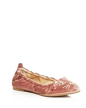 Charlotte Olympia Women's Kitty Velvet Ballet Flats