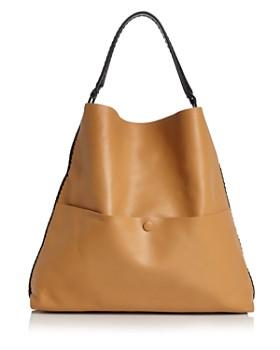 Callista - Grace Bicolor Slim Leather Hobo Tote