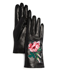 Bloomingdale's Embroidered Leather Gloves - 100% Exclusive _0