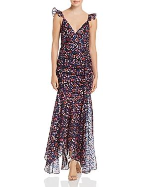 Aqua Ruched Print Faux-Wrap Maxi Dress - 100% Exclusive