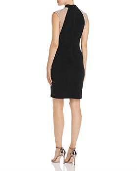 Avery G - Beaded Mesh Illusion Sheath Dress
