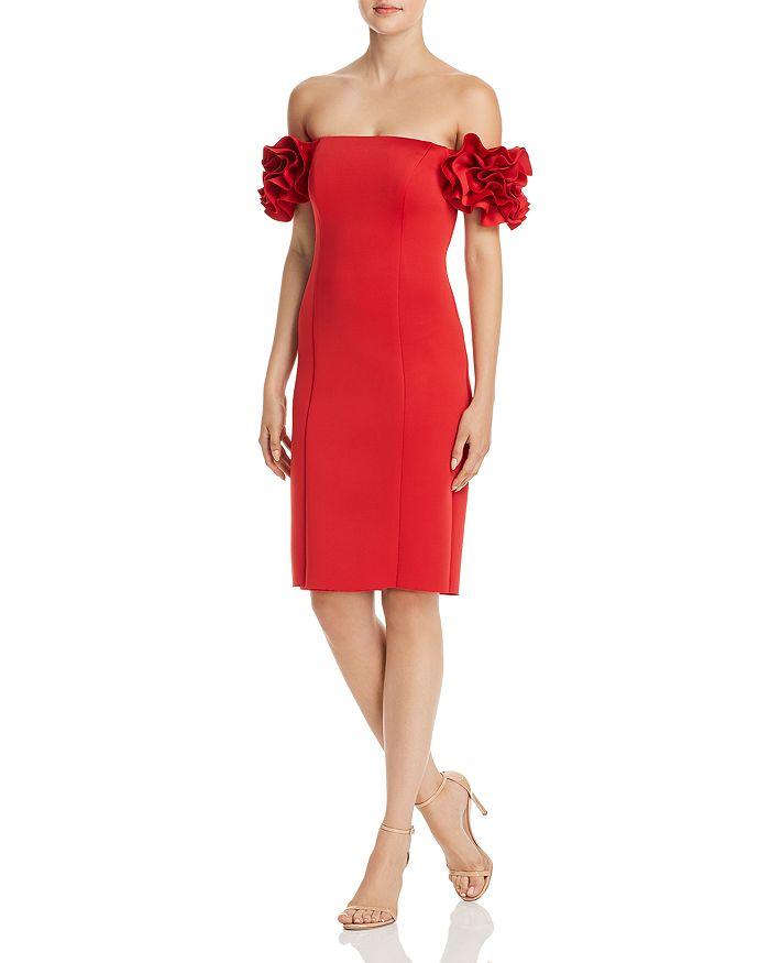 AQUA - Off-the-Shoulder Ruffle Sleeve Dress - 100% Exclusive