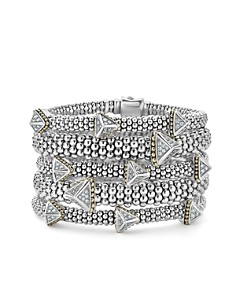 LAGOS 18K Yellow Gold & Sterling Silver KSL Luxe Diamond Pyramid Station Bracelet - Bloomingdale's_0