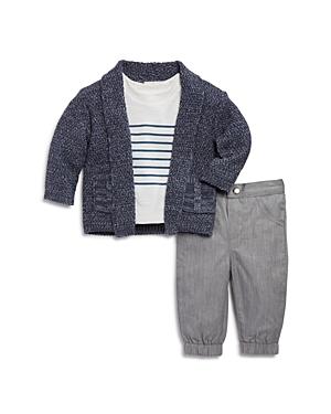 Miniclasix Boys Open Cardigan Striped Tee  Pants Set  Baby
