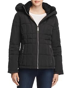 Calvin Klein - Hooded Faux Fur Trim Coat