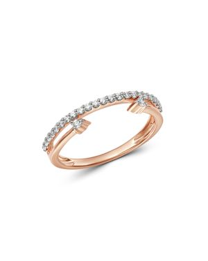 Bloomingdale's Diamond Cuff & Band Ring in 14K Rose Gold, 0.20 ct. t.w. - 100% Exclusive