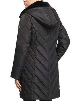 MICHAEL Michael Kors - Faux Fur Collar Puffer Coat