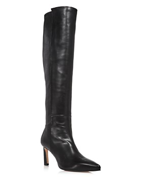 Stuart Weitzman - Women's Demi Pointed Toe Leather High-Heel Tall Boots