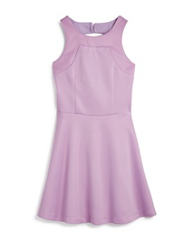 dbf8045f3b6e Miss Behave - Girls  Heather Dress with Back Cutout