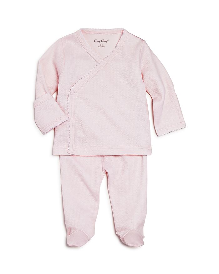 Kissy Kissy - Girls' Pointelle Take Me Home Top & Footie Pants Set - Baby