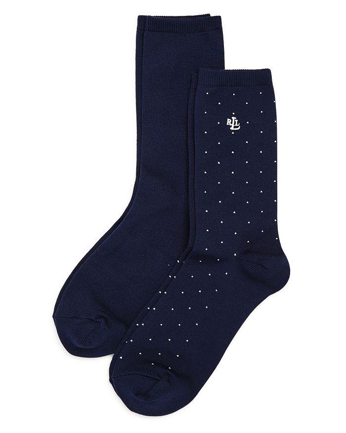 Ralph Lauren - Super Soft Pin Dot Socks, Set of 2