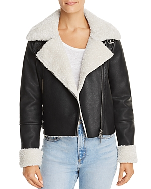 Blanknyc Faux Shearling Moto Jacket