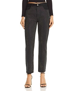 Pistola - Nico High-Rise Embellished Straight-Leg Jeans in Silver Lining - 100% Exclusive