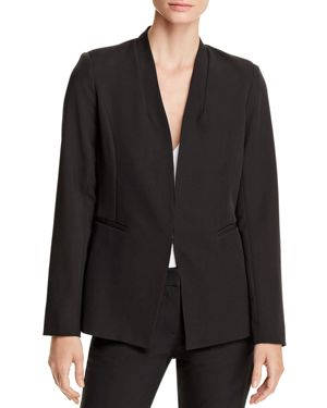 STAND-COLLAR BLAZER - 100% EXCLUSIVE