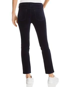 rag & bone/JEAN - Dojo Velvet Straight-Leg Jeans in Navy - 100% Exclusive