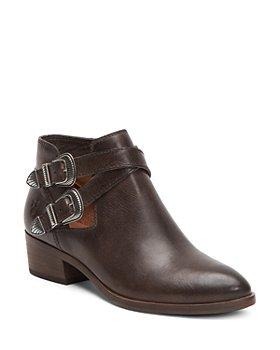 Frye - Women's Ray Almond Toe Leather Western Booties