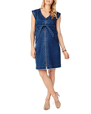 Ingrid & Isabel MATERNITY DENIM NURSING DRESS