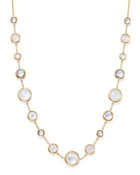 IPPOLITA - 18K Yellow Gold Lollipop Lollitini Clear Quartz, White Moonstone, Mother-Of-Pearl & Clear Quartz over Mother-Of-Pearl Doublet Necklace, 18""