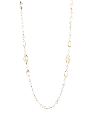 Carolee Cultured Freshwater Pearl Station Necklace, 41