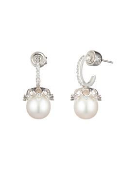 Carolee - Hoop & Cultured Freshwater Pearl Drop Earrings