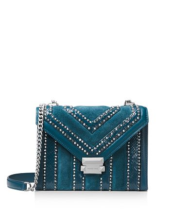3fd68642345a MICHAEL Michael Kors Whitney Large Studded Leather Shoulder Bag ...