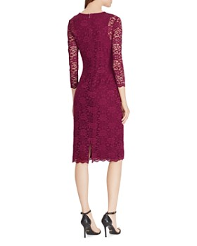 Ralph Lauren - Lace Sheer-Sleeve Dress