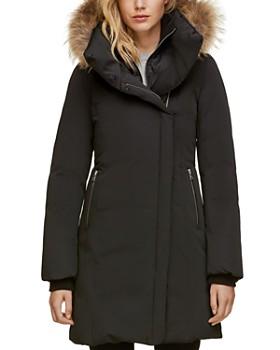 Soia & Kyo - Fur Trim Asymmetric Front Down Coat - 100% Exclusive