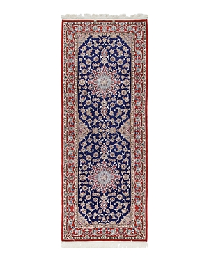 Solo Rugs Isfahan Carolina Hand-Knotted Runner Rug, 2'9 x 7'3