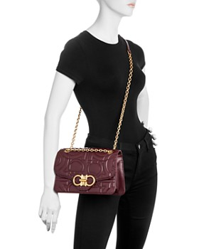 Salvatore Ferragamo - Gancini-Quilted Large Leather Shoulder Bag