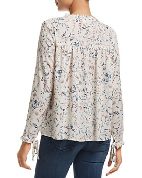 Finn & Grace - Floral Ruffle-Trimmed Top - 100% Exclusive