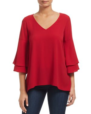 STATUS BY CHENAULT Status By Chenault Bell-Sleeve Top - 100% Exclusive in Red