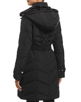 Cole Haan - Faux Fur-Lined Hood Puffer Coat