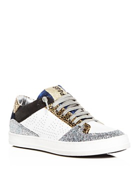 P448 - Women's Queens Mixed Media Lace Up Sneakers