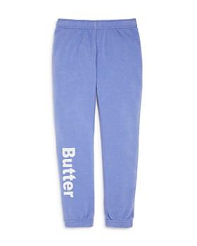 Butter - Girls' Fleece Varsity Jogger Pants, Little Kid - 100% Exclusive