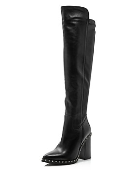 21ae684222824 Charles David - Women s Shania Studded Leather Tall High-Heel Boots ...