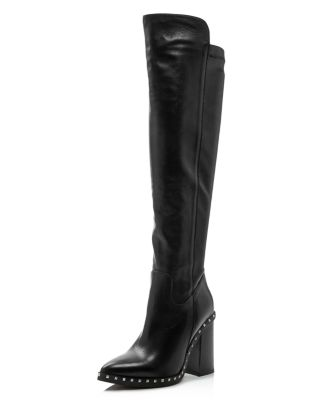 Women's Shania Studded Leather Tall High Heel Boots by Charles David