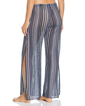 BECCA® by Rebecca Virtue - Pier Side Striped Swim Cover-Up Pants