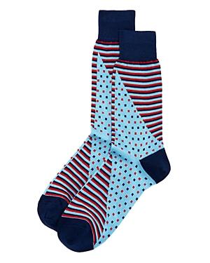 The Men's Store at Bloomingdale's Twist Stripe Dot Socks - 100% Exclusive