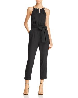 CROSS-BACK CROPPED JUMPSUIT