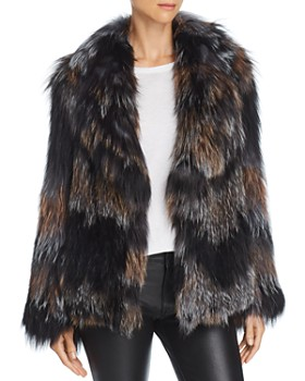Peri Luxe - Knitted Fox Fur Jacket