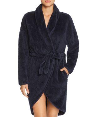 NATURAL SKIN Winnie Plush Cozy Wrap Robe in Navy