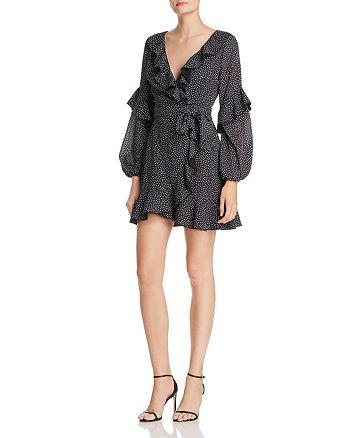 Finders Keepers - Dot-Print Ruffle-Trim Dress