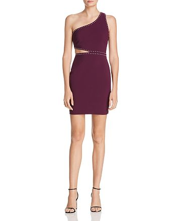LIKELY - Portia Studded One-Shoulder Cutout Dress