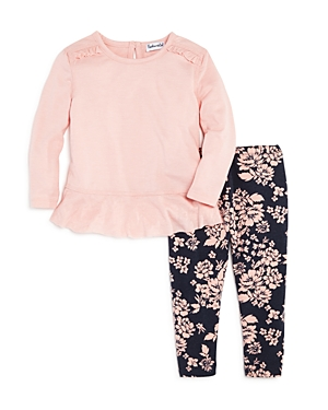 Splendid Girls Ruffled Top  Floral Leggings Set  Baby