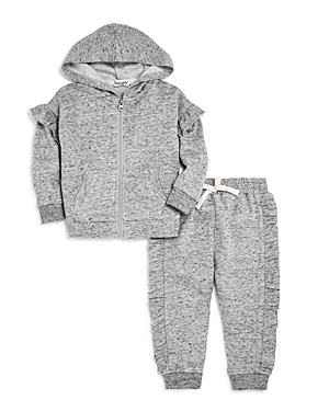 Splendid Girls Ruffled Hoodie  Jogger Pants Set  Baby
