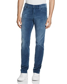 7 For All Mankind - Slimmy Slim Fit Corduroy Pants in Blue - 100% Exclusive